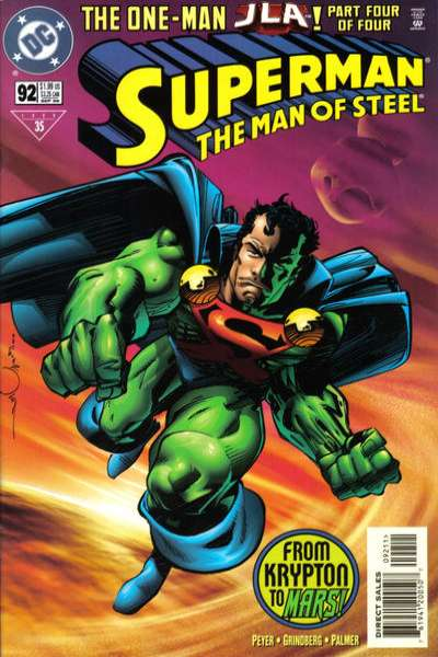 Superman: The Man of Steel #92 comic books - cover scans photos Superman: The Man of Steel #92 comic books - covers, picture gallery