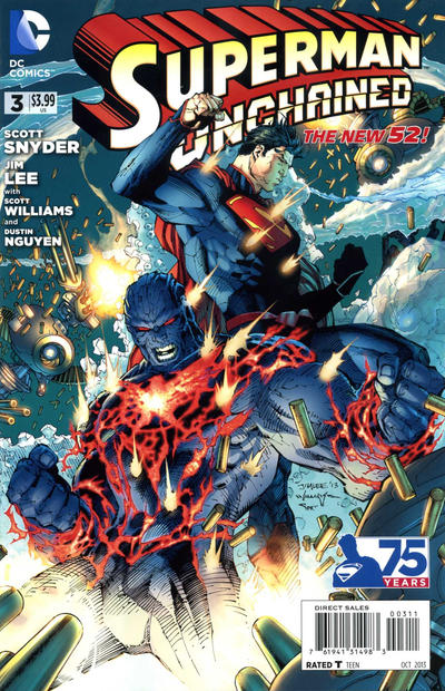 Superman Unchained #3 comic books - cover scans photos Superman Unchained #3 comic books - covers, picture gallery