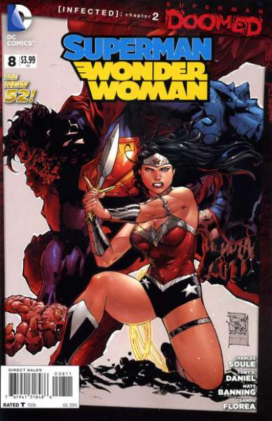 Superman/Wonder Woman #8 comic books - cover scans photos Superman/Wonder Woman #8 comic books - covers, picture gallery