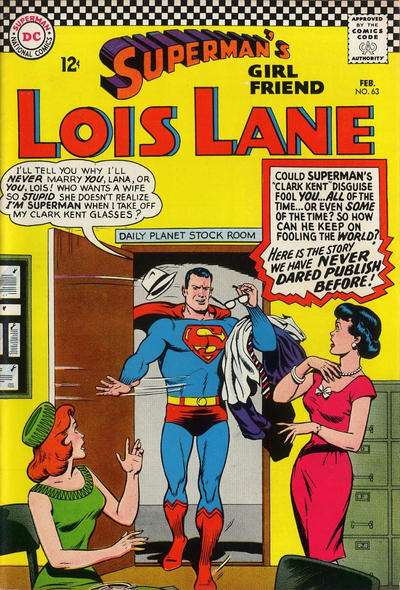 Superman's Girl Friend Lois Lane #63 comic books - cover scans photos Superman's Girl Friend Lois Lane #63 comic books - covers, picture gallery