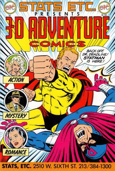 3-D Adventure Comics #1 comic books for sale
