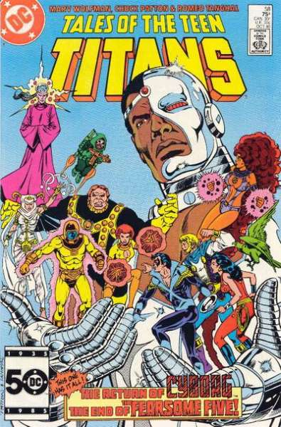 Tales of the Teen Titans #58 Comic Books - Covers, Scans, Photos  in Tales of the Teen Titans Comic Books - Covers, Scans, Gallery
