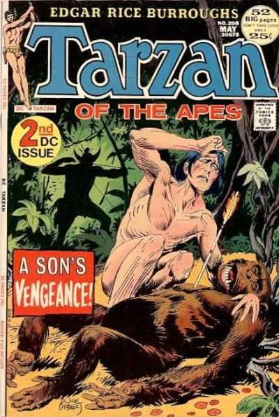 Tarzan #208 comic books - cover scans photos Tarzan #208 comic books - covers, picture gallery