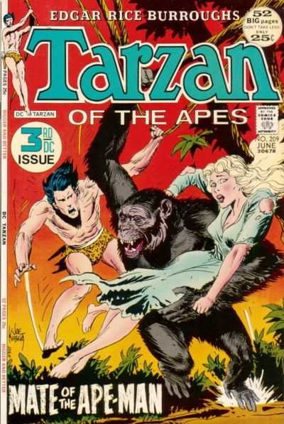 Tarzan #209 comic books - cover scans photos Tarzan #209 comic books - covers, picture gallery