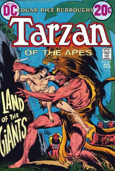 Tarzan #211 comic books - cover scans photos Tarzan #211 comic books - covers, picture gallery
