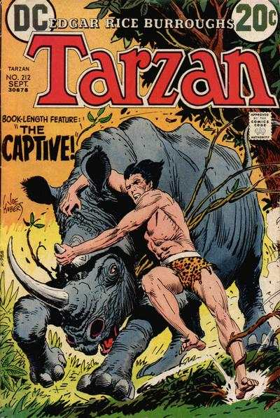 Tarzan #212 comic books - cover scans photos Tarzan #212 comic books - covers, picture gallery