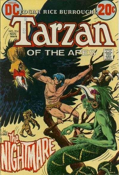 Tarzan #214 comic books - cover scans photos Tarzan #214 comic books - covers, picture gallery