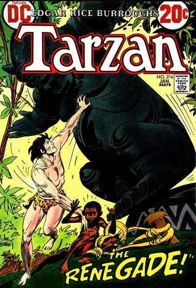 Tarzan #216 comic books - cover scans photos Tarzan #216 comic books - covers, picture gallery