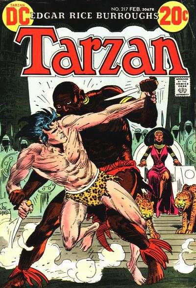 Tarzan #217 comic books - cover scans photos Tarzan #217 comic books - covers, picture gallery