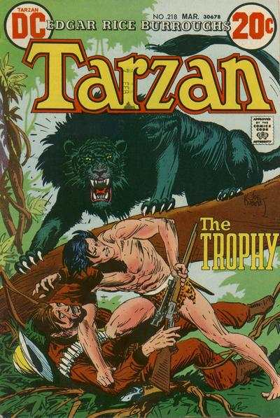 Tarzan #218 comic books - cover scans photos Tarzan #218 comic books - covers, picture gallery