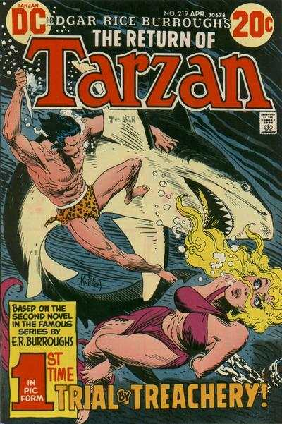 Tarzan #219 comic books - cover scans photos Tarzan #219 comic books - covers, picture gallery