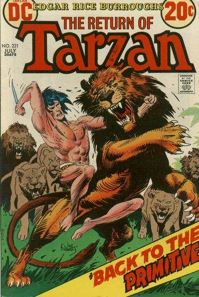 Tarzan #221 comic books - cover scans photos Tarzan #221 comic books - covers, picture gallery