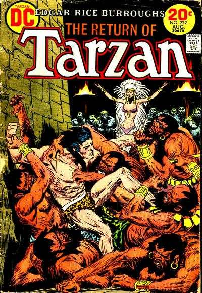 Tarzan #222 comic books - cover scans photos Tarzan #222 comic books - covers, picture gallery