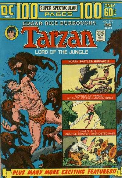 Tarzan #230 comic books - cover scans photos Tarzan #230 comic books - covers, picture gallery