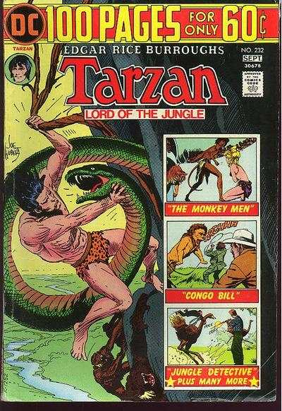 Tarzan #232 comic books - cover scans photos Tarzan #232 comic books - covers, picture gallery