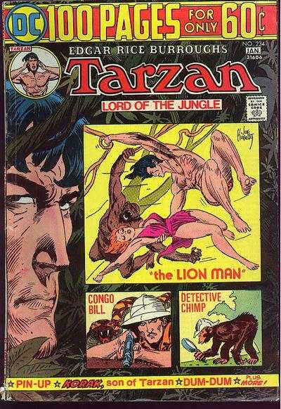 Tarzan #234 comic books - cover scans photos Tarzan #234 comic books - covers, picture gallery