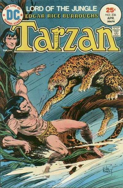 Tarzan #236 comic books - cover scans photos Tarzan #236 comic books - covers, picture gallery
