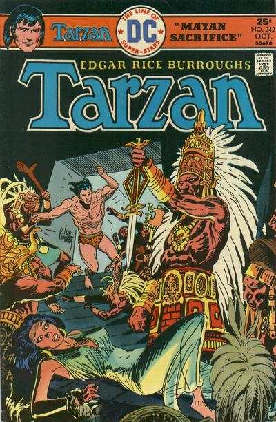 Tarzan #242 comic books - cover scans photos Tarzan #242 comic books - covers, picture gallery