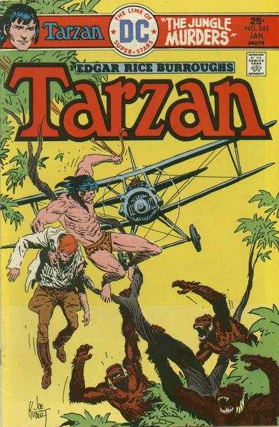 Tarzan #245 comic books - cover scans photos Tarzan #245 comic books - covers, picture gallery