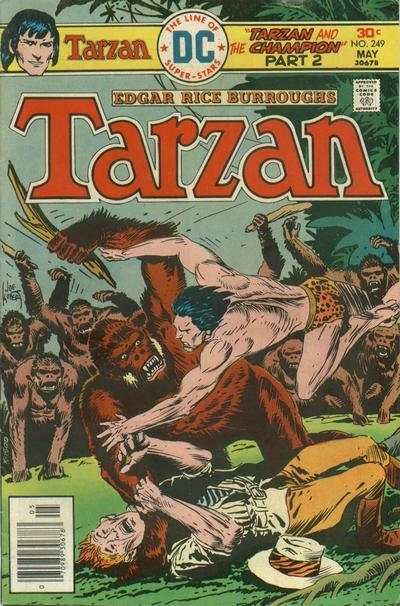 Tarzan #249 comic books - cover scans photos Tarzan #249 comic books - covers, picture gallery