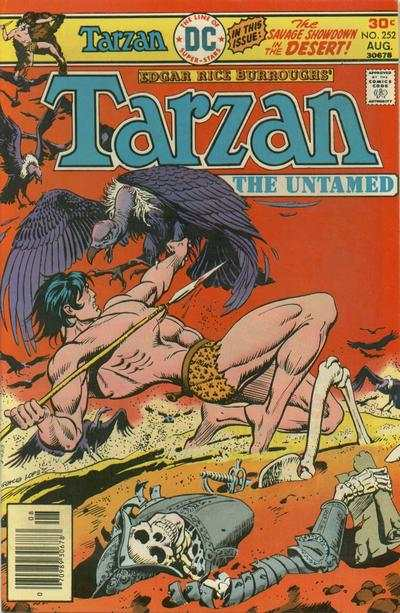 Tarzan #252 comic books - cover scans photos Tarzan #252 comic books - covers, picture gallery