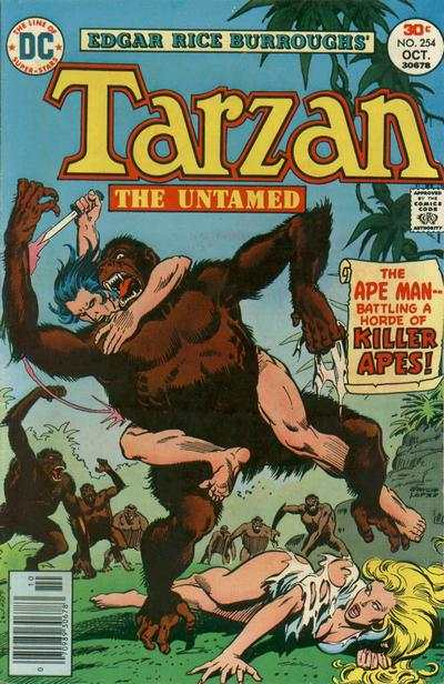 Tarzan #254 comic books - cover scans photos Tarzan #254 comic books - covers, picture gallery
