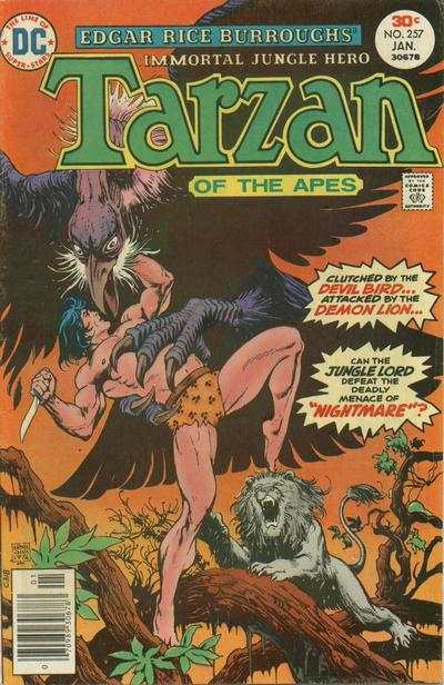 Tarzan #257 comic books - cover scans photos Tarzan #257 comic books - covers, picture gallery