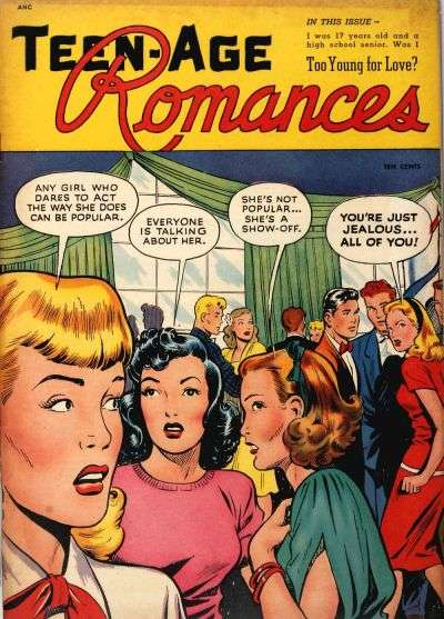 Teen-Age Romances Comic Books. Teen-Age Romances Comics.