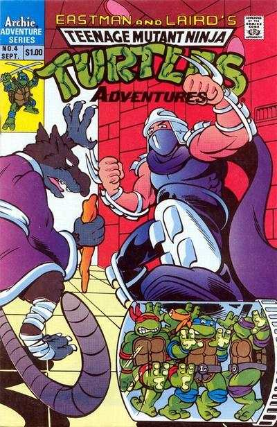 Teenage Mutant Ninja Turtles Adventures #4 comic books for sale