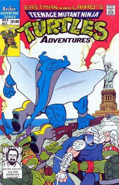 Teenage Mutant Ninja Turtles Adventures #5 comic books for sale