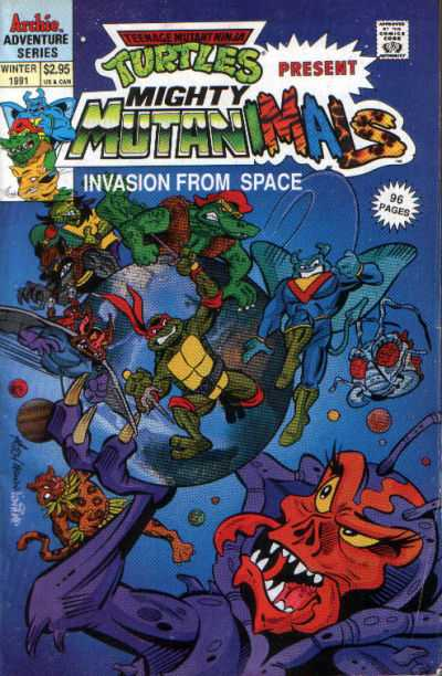 Teenage Mutant Ninja Turtles present Mighty Mutanimals Special comic books