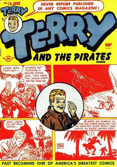 Terry and the Pirates #10 comic books for sale