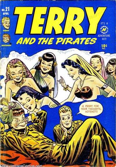 Terry and the Pirates #21 comic books for sale