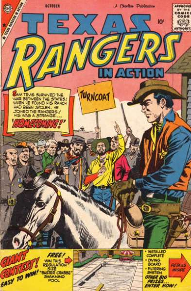 Texas Rangers in Action #18 comic books for sale