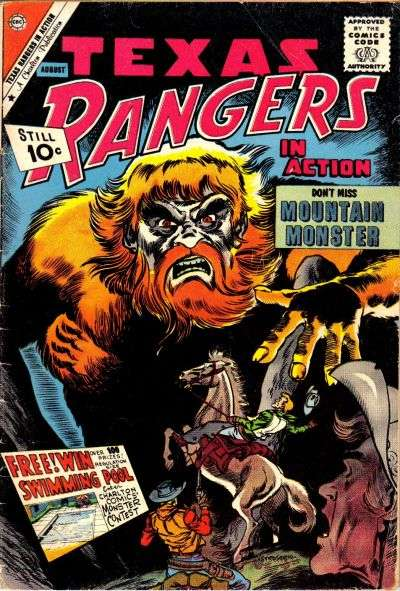 Texas Rangers in Action #29 comic books for sale