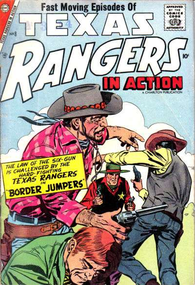 Texas Rangers in Action #8 Comic Books - Covers, Scans, Photos  in Texas Rangers in Action Comic Books - Covers, Scans, Gallery