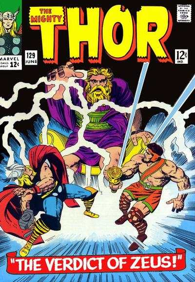 Thor #129 comic books - cover scans photos Thor #129 comic books - covers, picture gallery