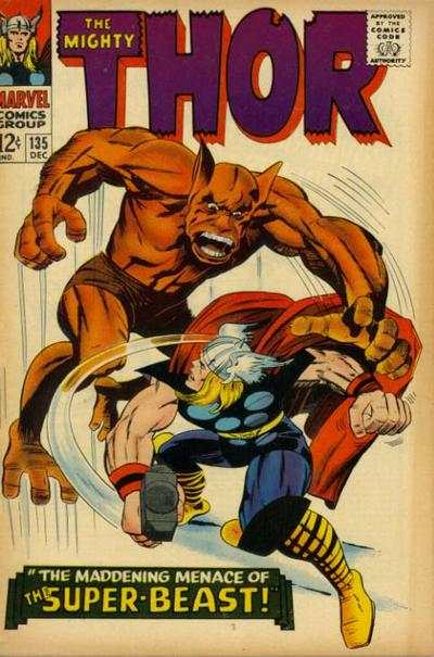 Thor #135 comic books - cover scans photos Thor #135 comic books - covers, picture gallery