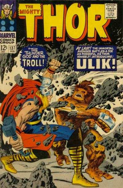 Thor #137 comic books - cover scans photos Thor #137 comic books - covers, picture gallery