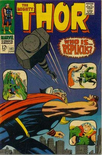 Thor #141 comic books - cover scans photos Thor #141 comic books - covers, picture gallery