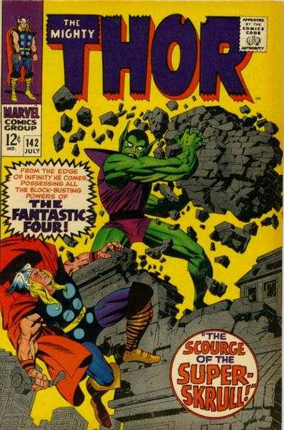 Thor #142 comic books - cover scans photos Thor #142 comic books - covers, picture gallery