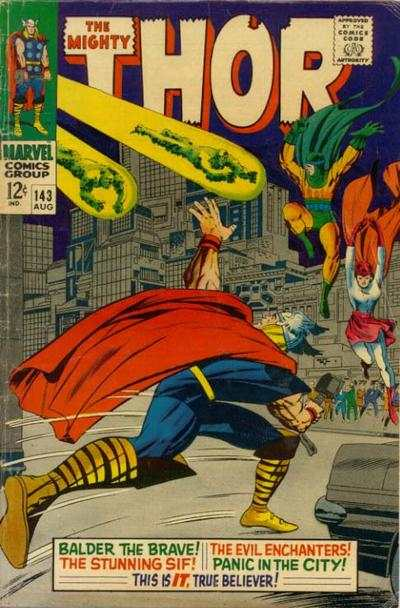 Thor #143 comic books - cover scans photos Thor #143 comic books - covers, picture gallery