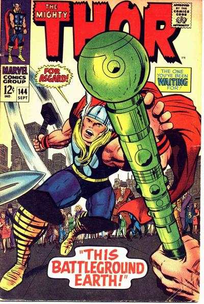 Thor #144 comic books - cover scans photos Thor #144 comic books - covers, picture gallery