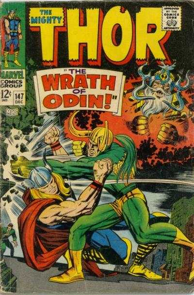 Thor #147 comic books - cover scans photos Thor #147 comic books - covers, picture gallery
