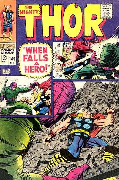 Thor #149 comic books - cover scans photos Thor #149 comic books - covers, picture gallery