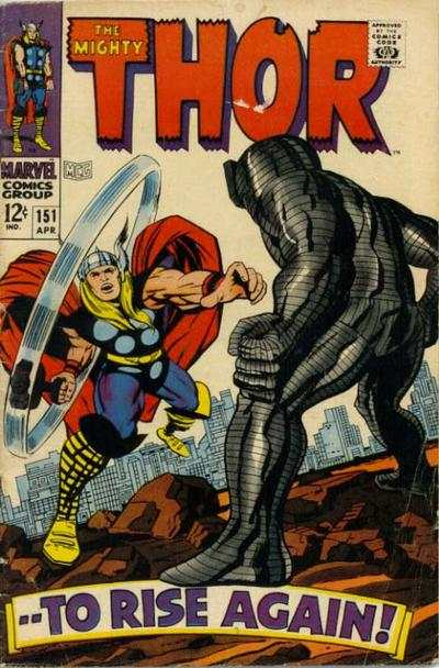 Thor #151 comic books - cover scans photos Thor #151 comic books - covers, picture gallery