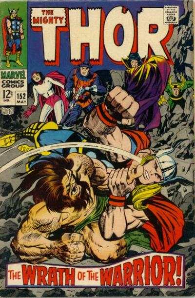 Thor #152 comic books - cover scans photos Thor #152 comic books - covers, picture gallery