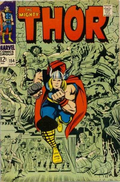Thor #154 comic books - cover scans photos Thor #154 comic books - covers, picture gallery