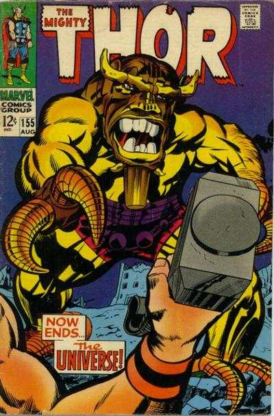 Thor #155 Comic Books - Covers, Scans, Photos  in Thor Comic Books - Covers, Scans, Gallery