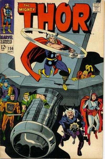 Thor #156 comic books - cover scans photos Thor #156 comic books - covers, picture gallery